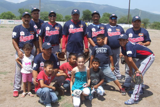 Diamantes de Vallecillo en el softbol del Club Sertoma